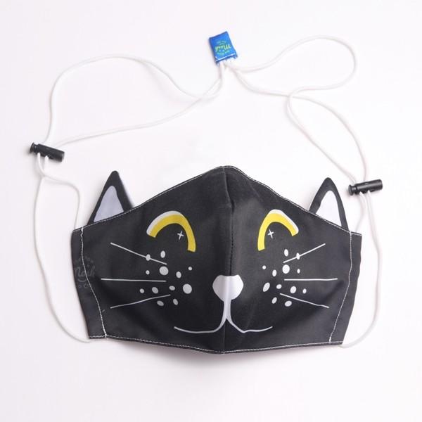 หน้ากากอนามัยแมว/ดำ