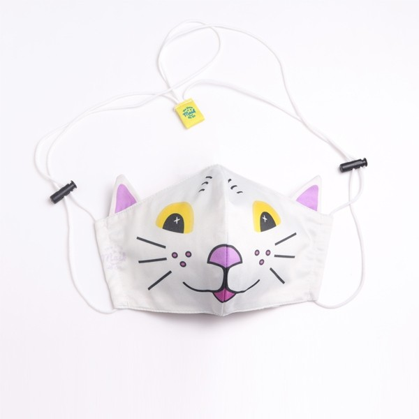 หน้ากากอนามัยแมวหน้าขาว/หูม่วง