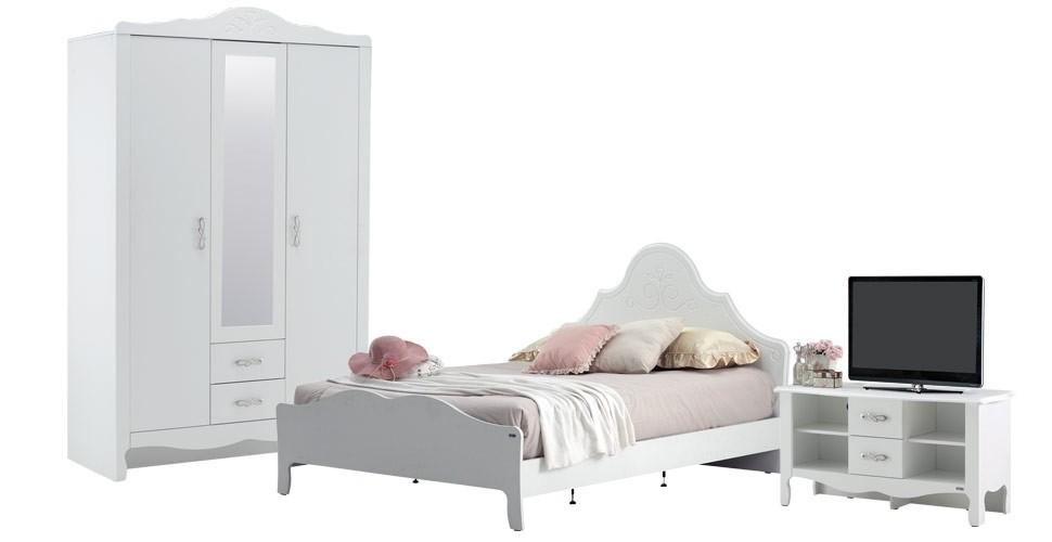 Renesme ชุดห้องนอน สีขาว