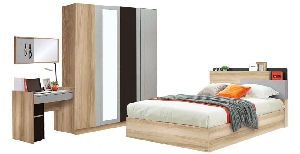 ชุดห้องนอน ขนาด 5 ฟุต รุ่น Hewka