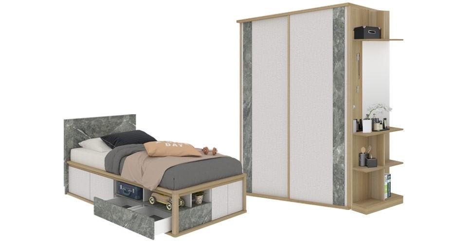 ชุดห้องนอน ขนาด 3.5 ฟุต รุ่น Amsterdam