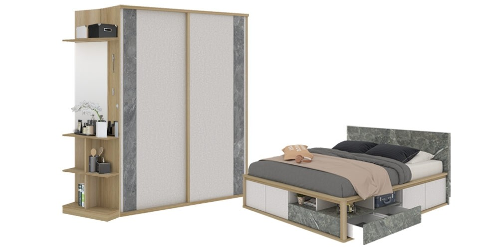 ชุดห้องนอน ขนาด 6 ฟุต รุ่น Amsterdam