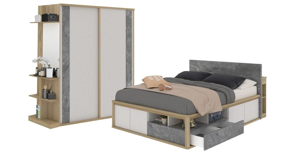 ชุดห้องนอน ขนาด 5 ฟุต รุ่น Amsterdam