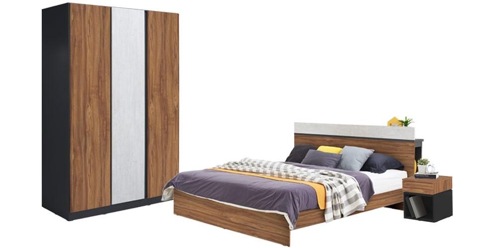 Tanocz ชุดห้องนอน สีออทัมน์บราวน์