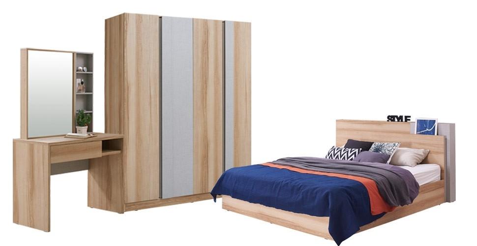 Montar ชุดห้องนอน LINDBERG OAK