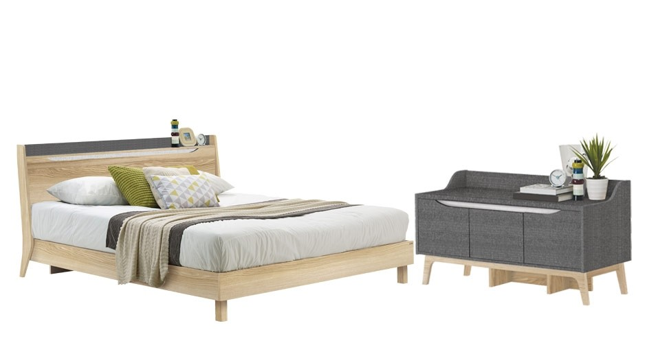 Benecia ชุดห้องนอน LINDBERG OAK Scandinavian