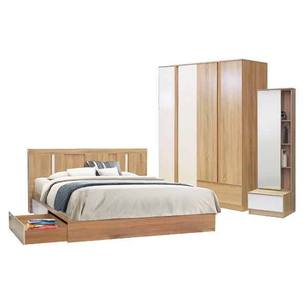 BEDROOM/Lascha6'/SOLID/WHITE