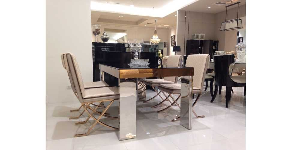 Sherry Luxury Cromium Dining Table 160 Cm Wide