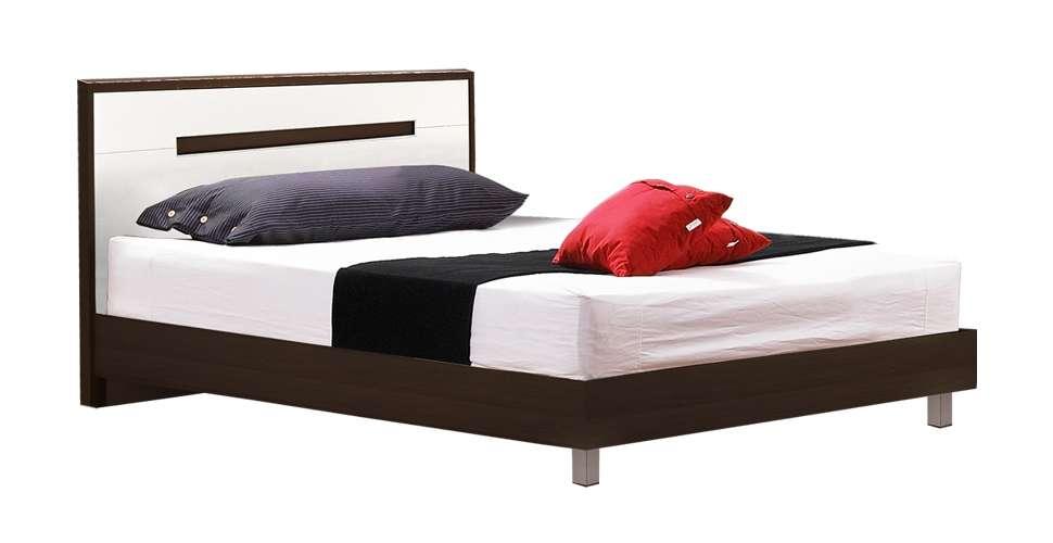 Koloze เตียง 3.5 ฟุต สีเวงเก้ สไตล์โมเดิร์น